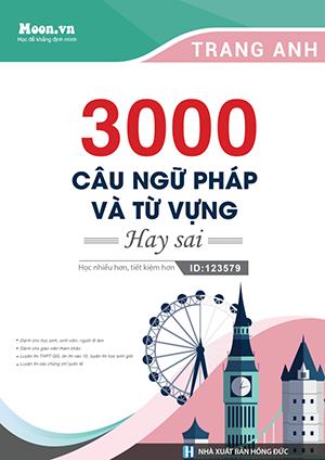 Sách luyện thi môn tiếng Anh - 3000 câu Ngữ pháp - Từ vựng hay sai