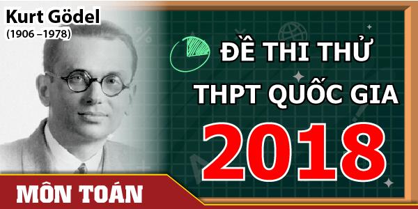 Đề thi thử THPT Quốc gia môn Toán 2018