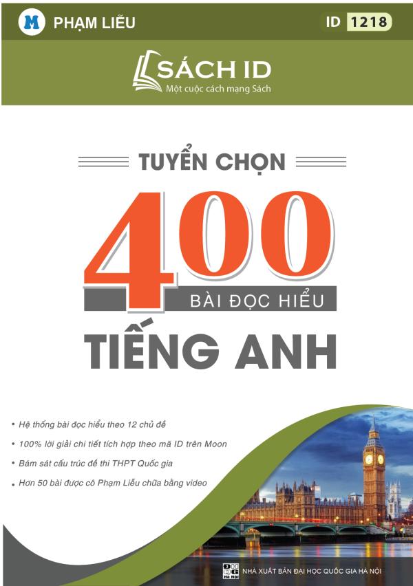 Tuyển chọn 400 bài đọc hiểu tiếng Anh