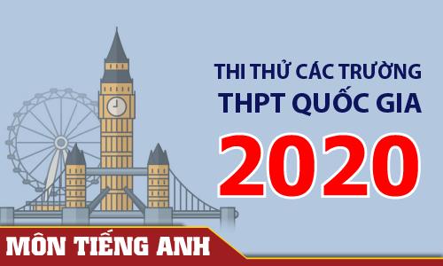 Đề thi thử THPT Quốc gia các trường & Sở GD môn Tiếng Anh