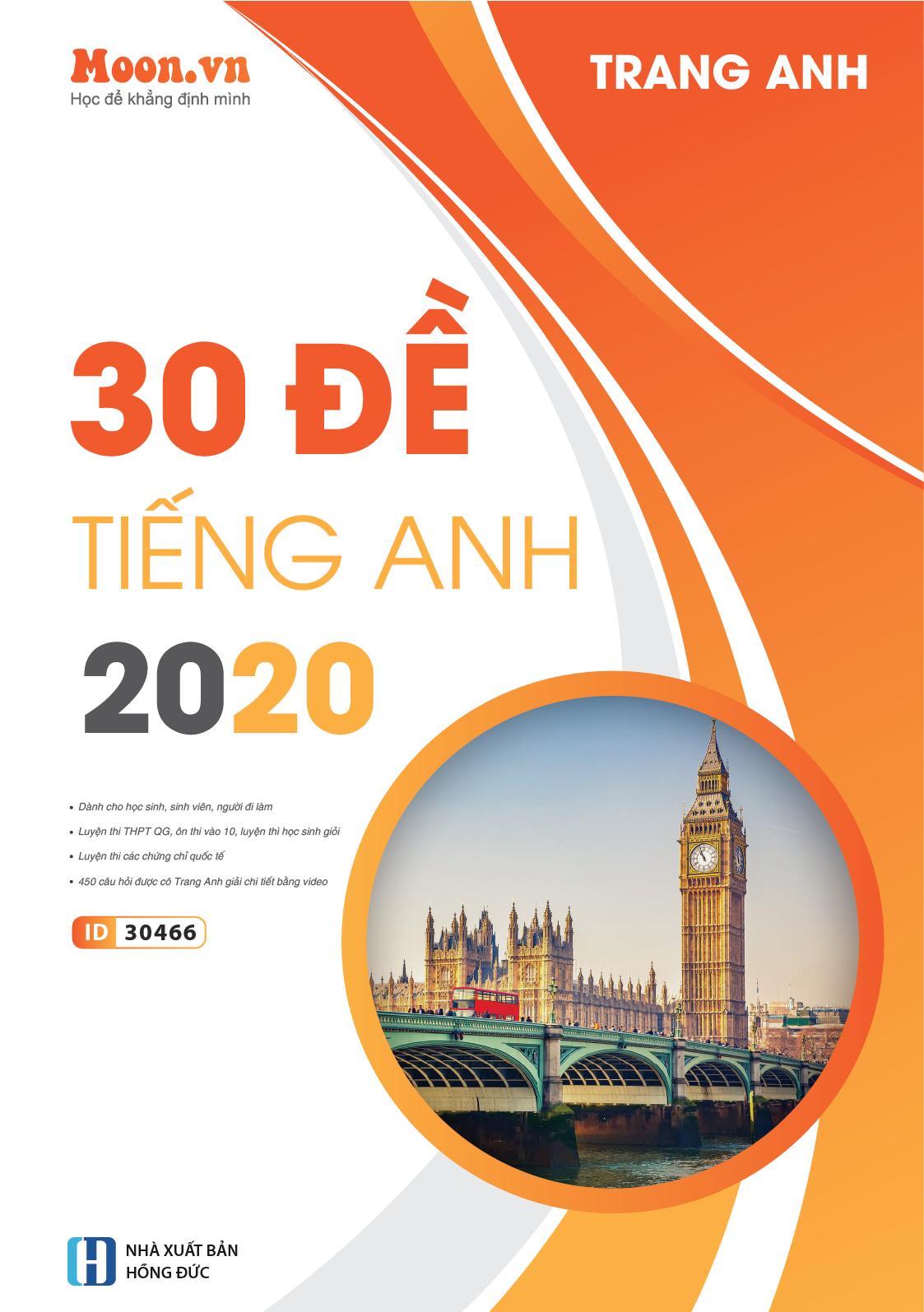 35 Đề Minh họa Luyện thi thử THPT Quốc gia 2020 môn Tiếng Anh