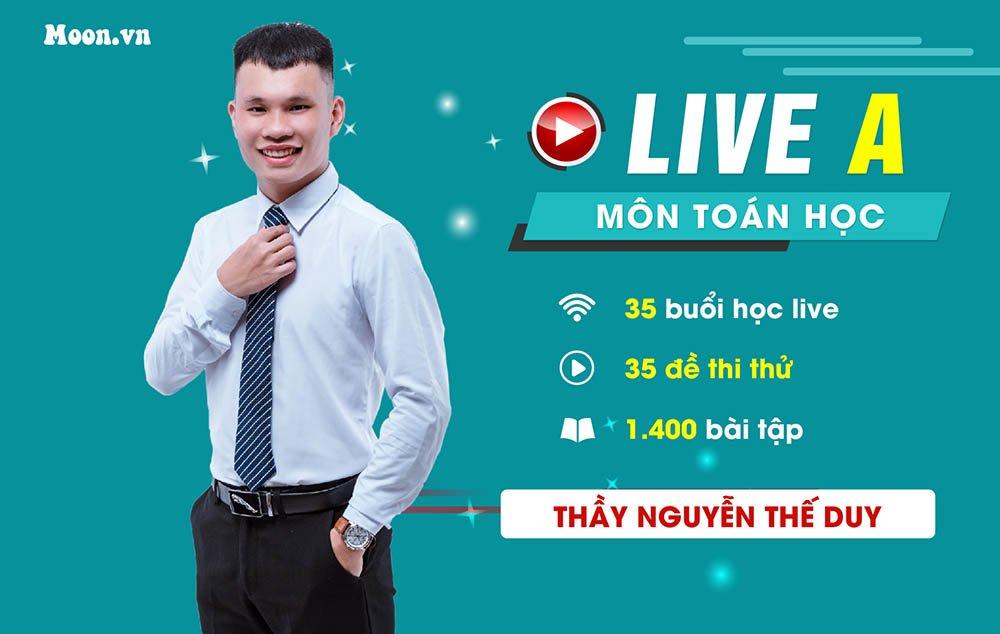 Live A : Luyện 35 đề chuẩn môn Toán   2021 - Thầy Nguyễn Thế Duy